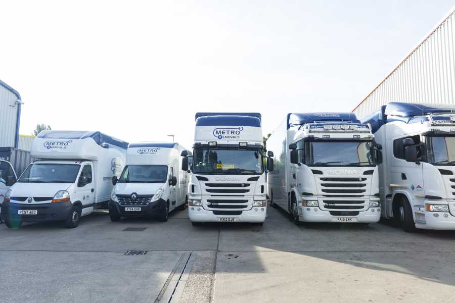 Metro Removals fleet